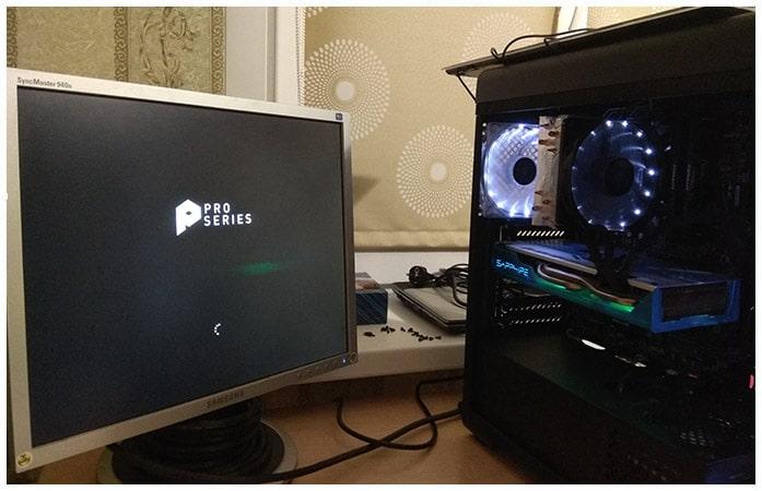 Успешный запуск компьютера