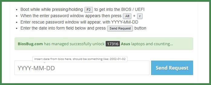 Как удалить или сбросить пароль BIOS на ноутбуке ASUS