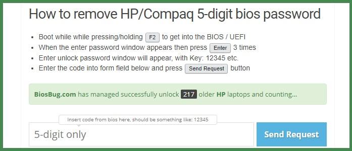 Как удалить пароль BIOS на ноутбуке HP