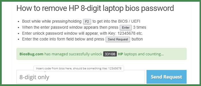 Как сбросить пароль BIOS на ноутбуке HP